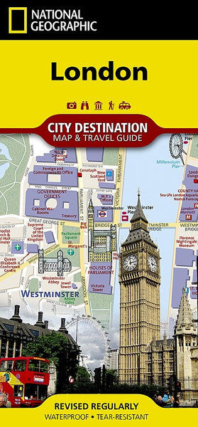 National Geographic London, England Destination Map