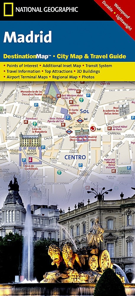 National Geographic Madrid Destination Map
