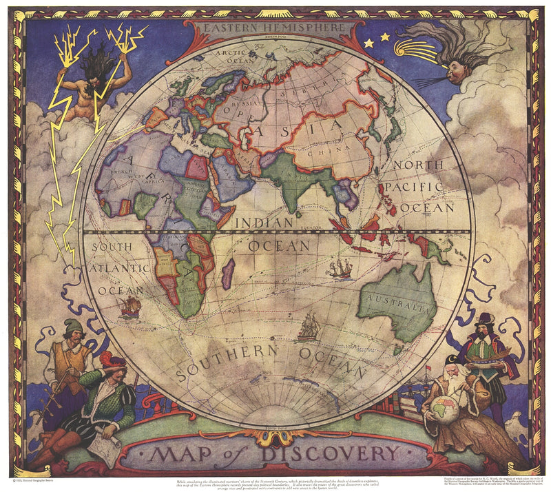 Map of Discovery: Eastern Hemisphere