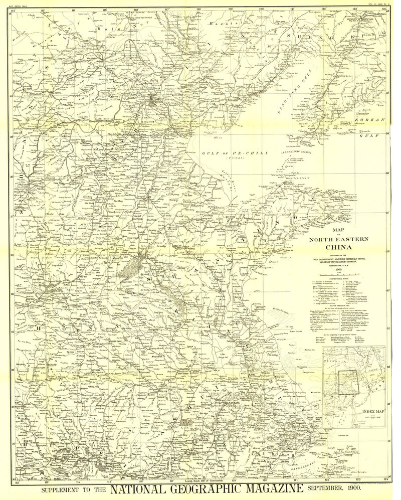 Map Of North Eastern China Map 1900