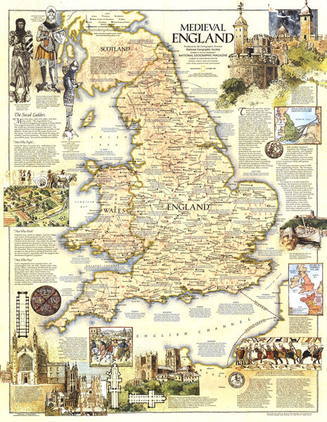 Medieval England Map 1979