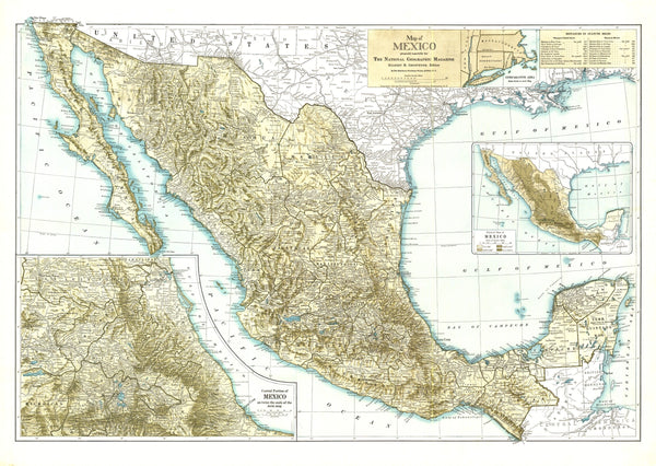 Mexico Map 1916
