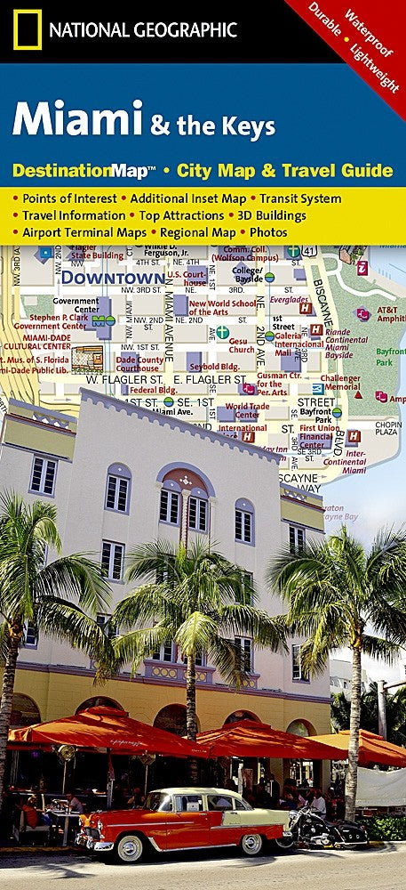 National Geographic Miami, FL and Keys Destination Map