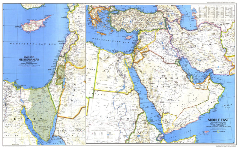 Middle East Map 1978