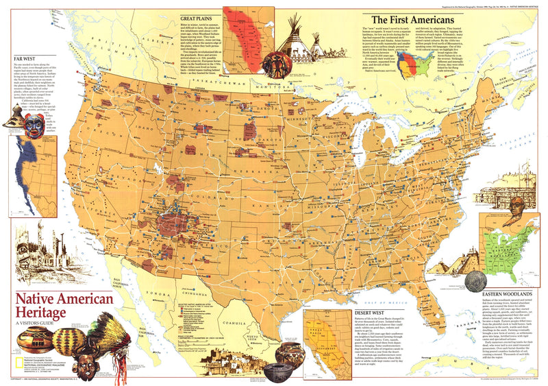Native American Heritage Map 1991