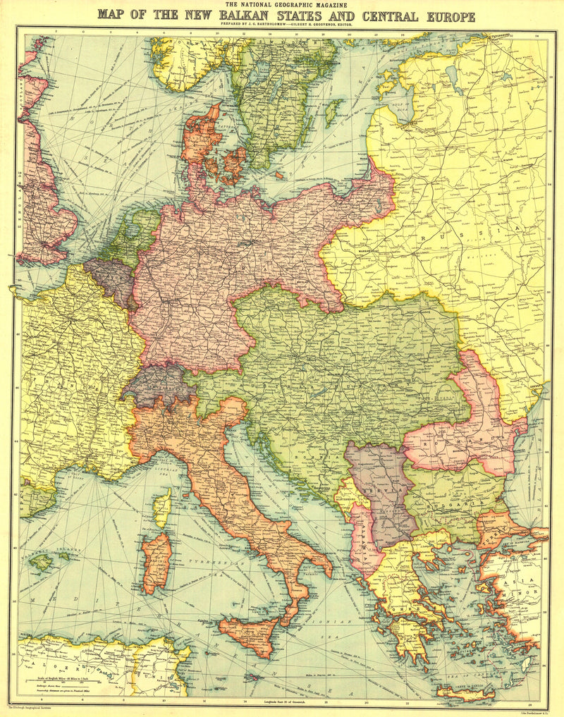 New Balkan States And Central Europe Map 1914