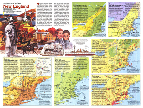 New England Map 1987 Side 2