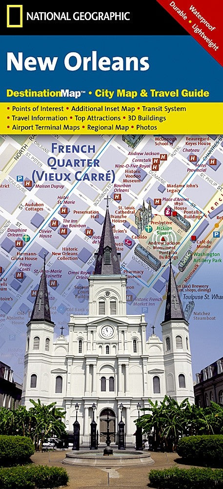 National Geographic New Orleans, LA Destination Map