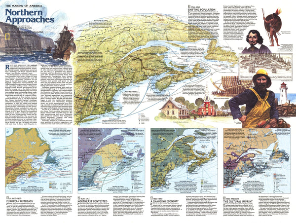 Northern Approaches Maine to the Maritimes Map 1985 Side 2