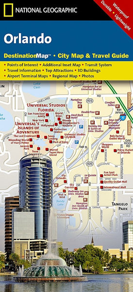 National Geographic Orlando, FL Destination Map