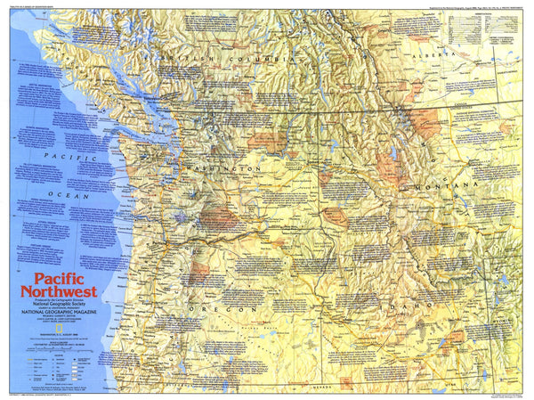 Pacific Northwest Map 1986 Side 1