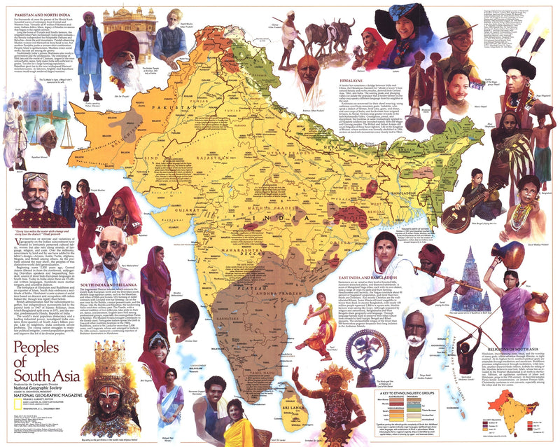 Peoples Of South Asia Map 1984