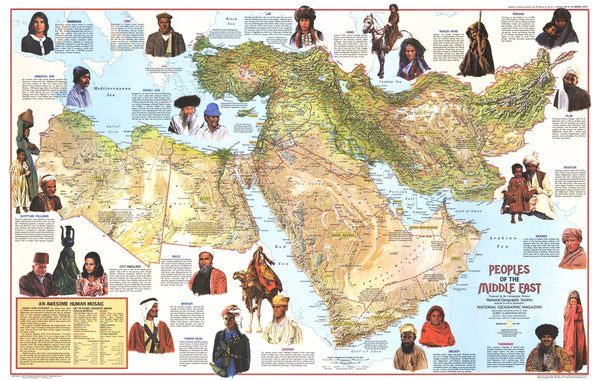 Peoples Of The Middle East Map 1972 Side 1