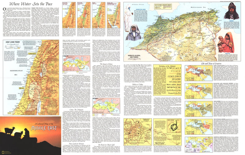 Peoples Of The Middle East Map 1972 Side 2
