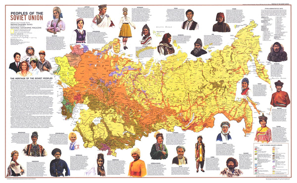 Peoples Of The Soviet Union Map 1976