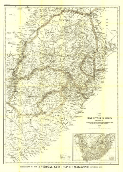 Seat Of War In Africa Map 1899