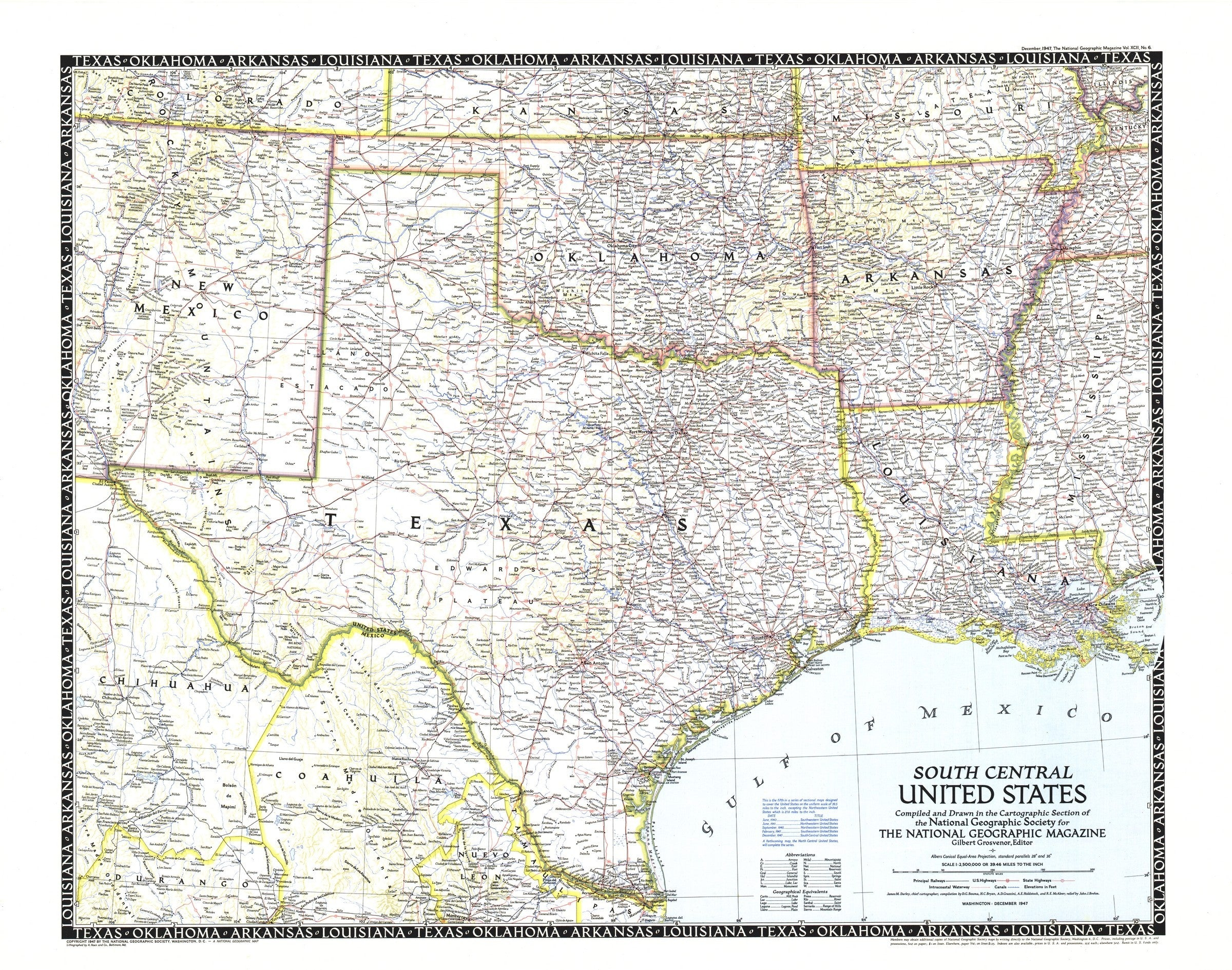 Picture of: South Central United States Map 1947 Maps Com Com