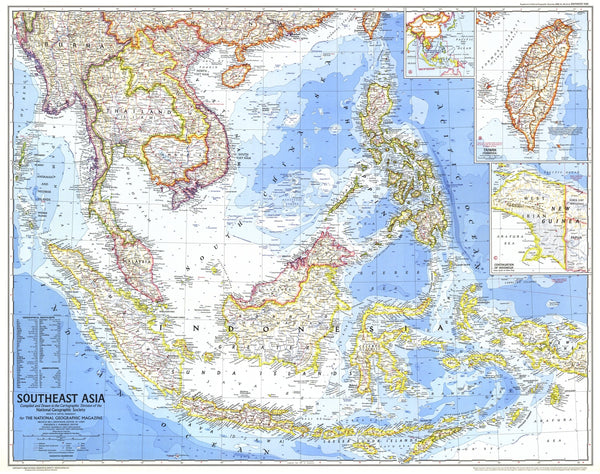 Southeast Asia Map 1968