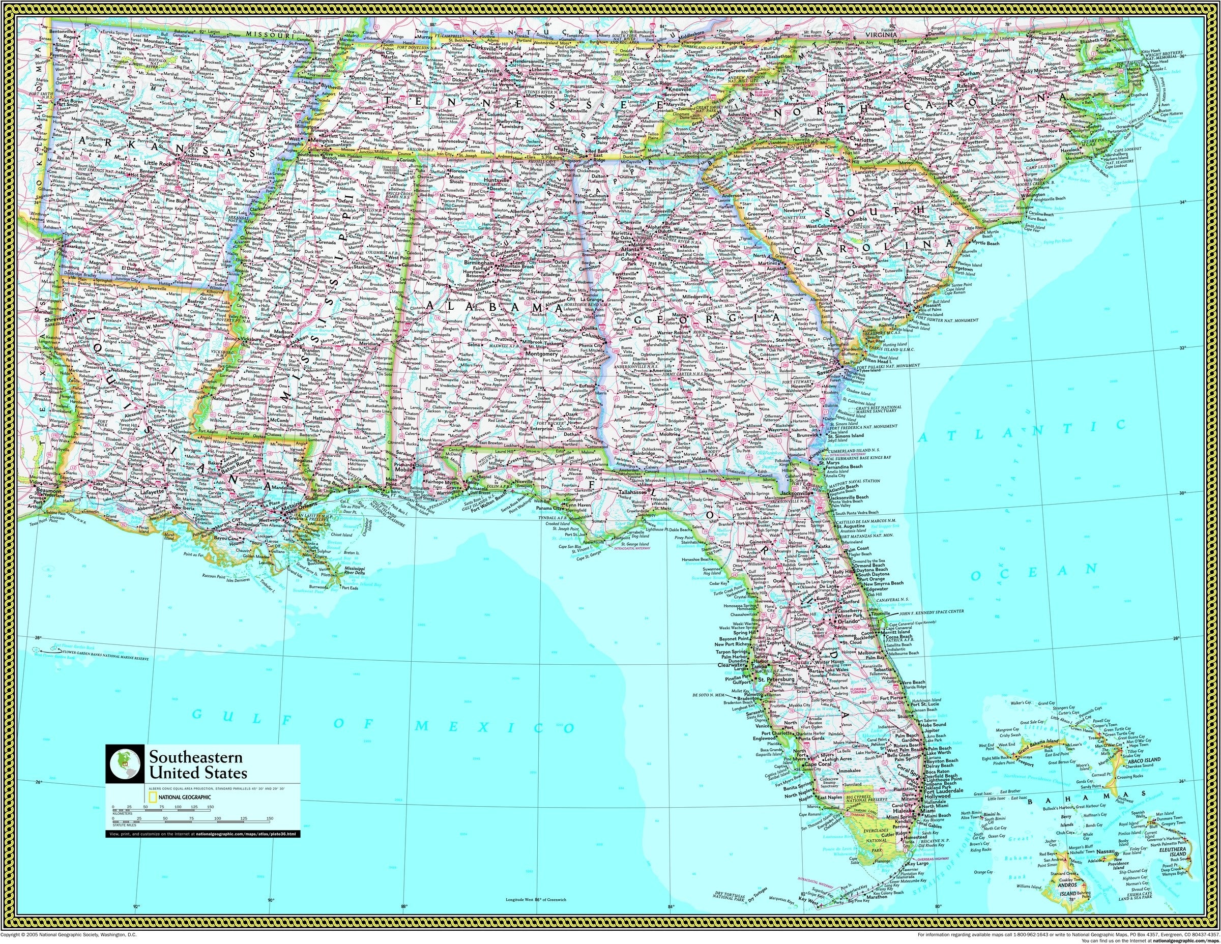 Picture of: Southeastern United States Atlas Wall Map Maps Com Com