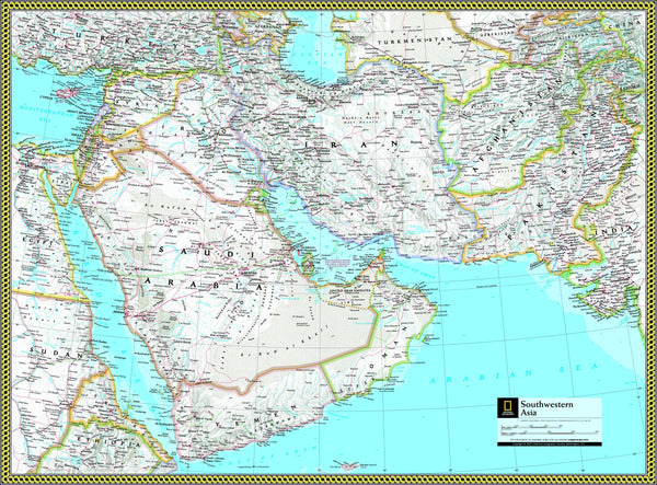 National Geographic Southwestern Asia Wall Map