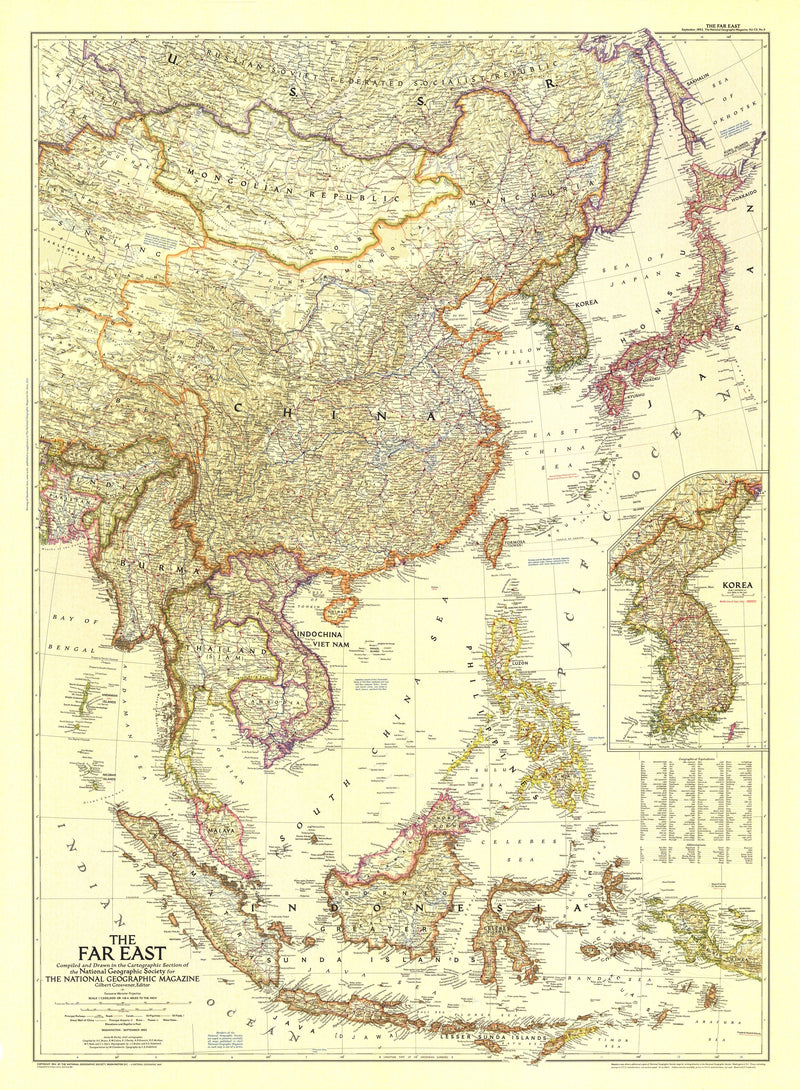 The Far East Map 1952