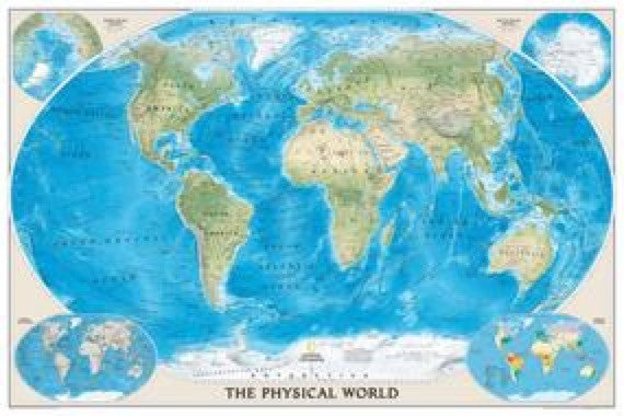 National Geographic The Physical World Wall Map