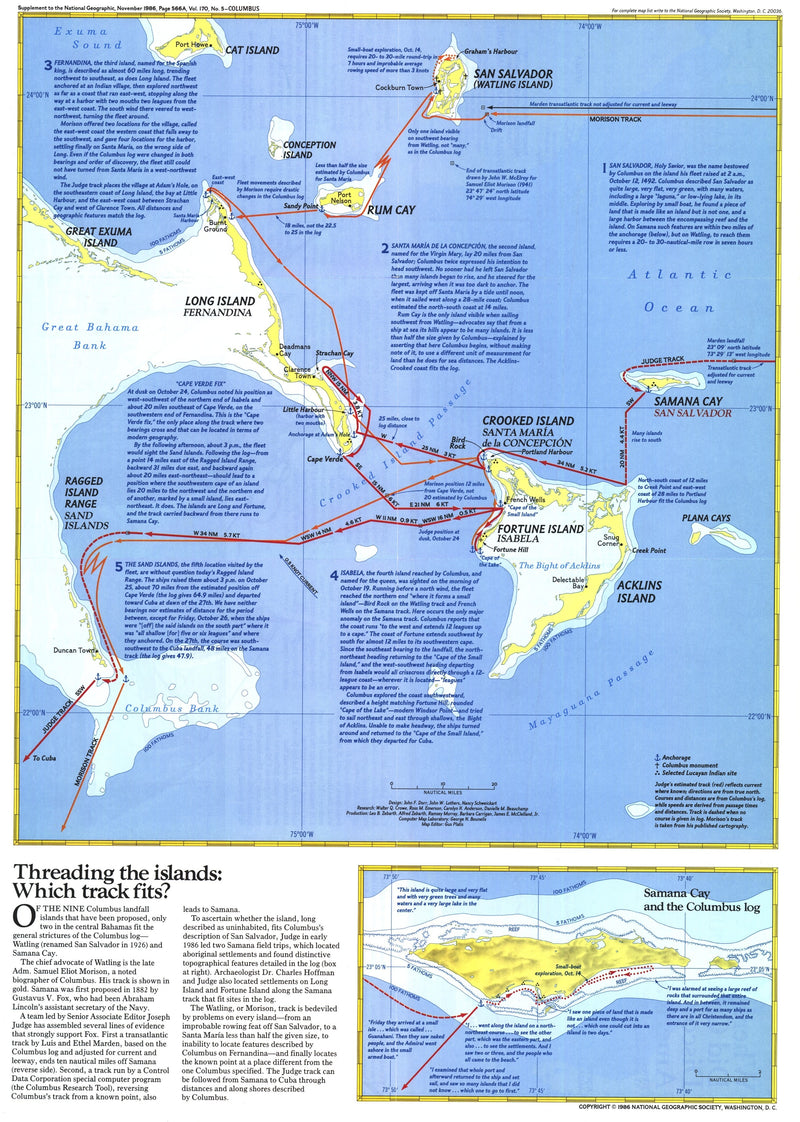 Threading The Islands Map 1986