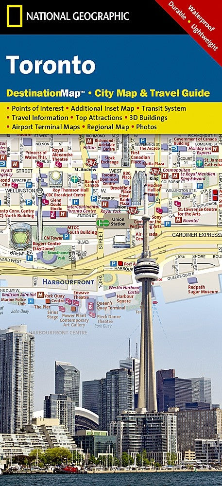 National Geographic Toronto, ON Destination Map