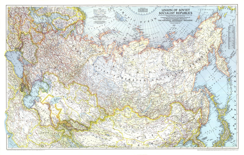 Union Of Soviet Socialist Republics,1938-1944 Map