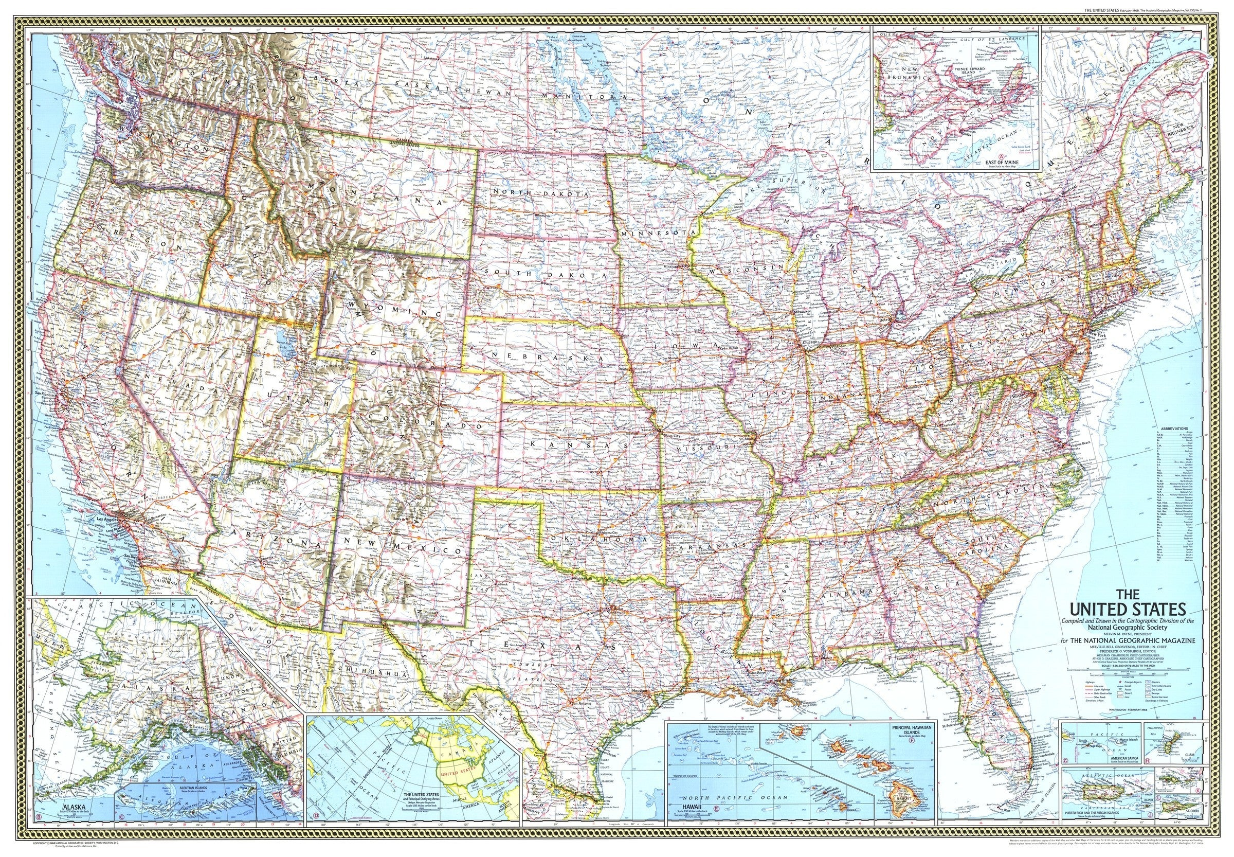 Picture of: National Geographic United States Map 1968 Maps Com Com