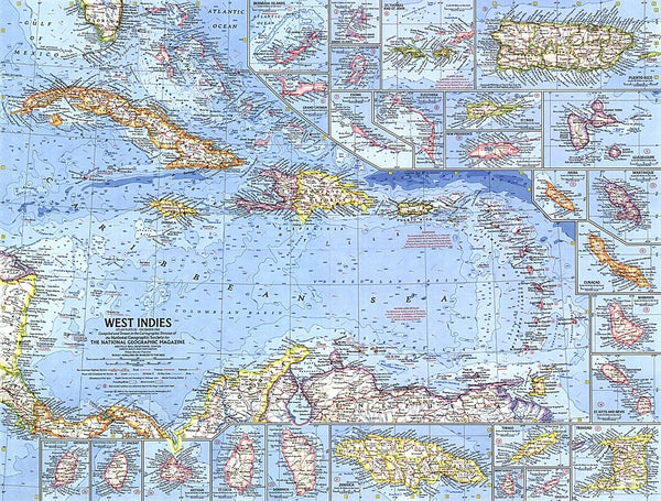 West Indies Map 1962