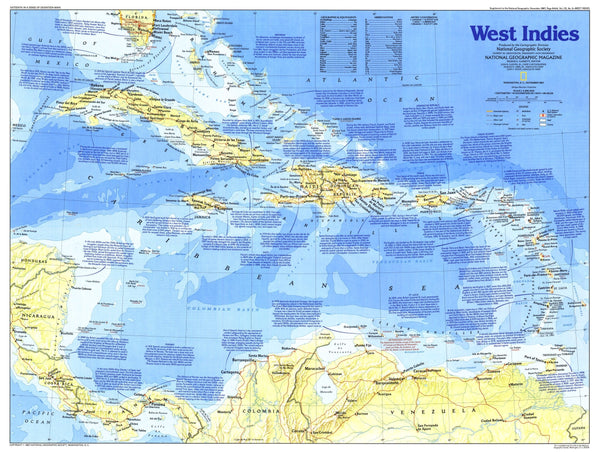 West Indies Map 1987 Side 1