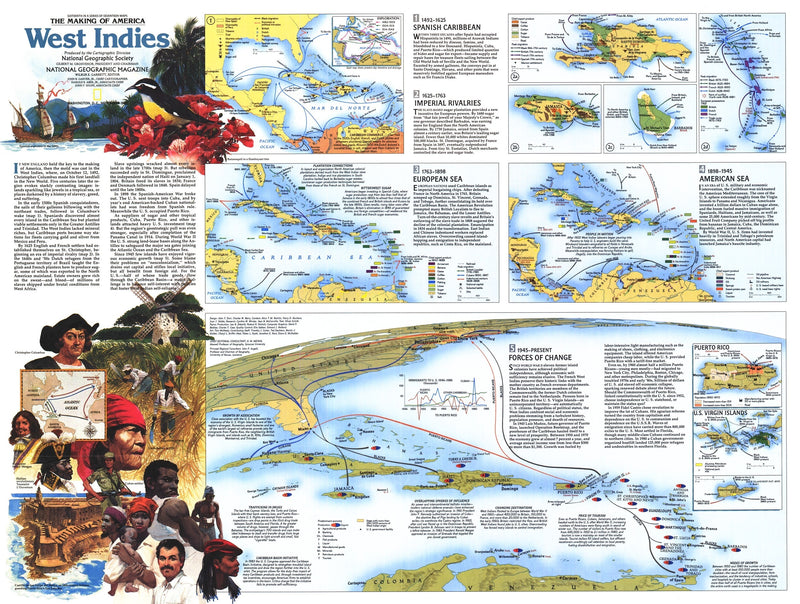 West Indies Map 1987 Side 2