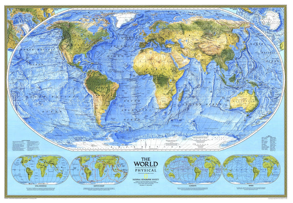 World Physical Map 1994