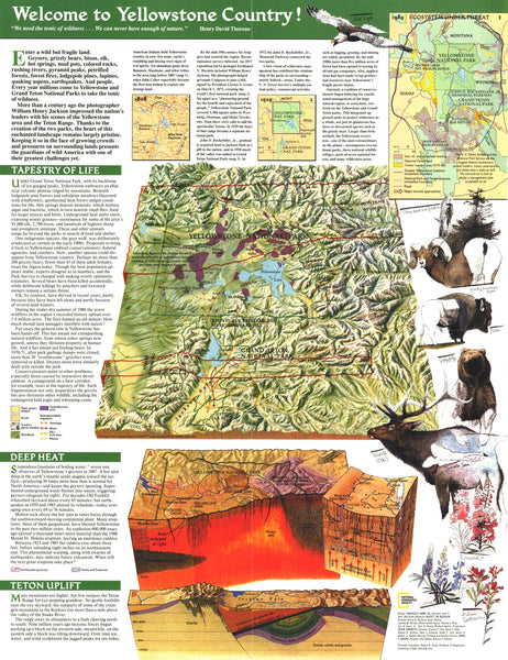 Yellowstone And Grand Teton Map 1989 Side 2