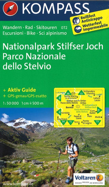 Cover of Nationalpark Stilfser Joch Hiking Map By Kompass