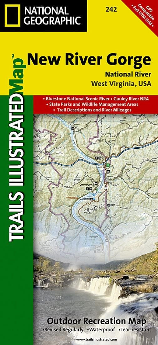 New River, Gorge, National River Folded Map by National Geographic