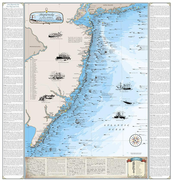 Cover of Shipwrecks of New Jersey Map