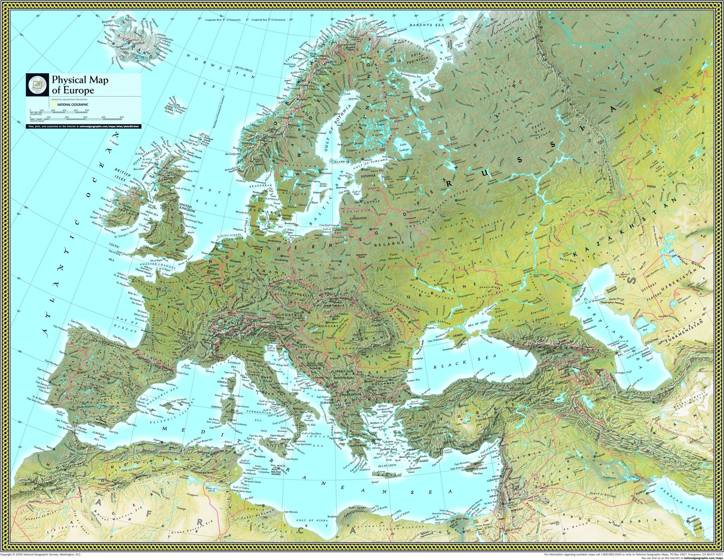 Image of: Europe Physical Atlas Wall Map Maps Com Com