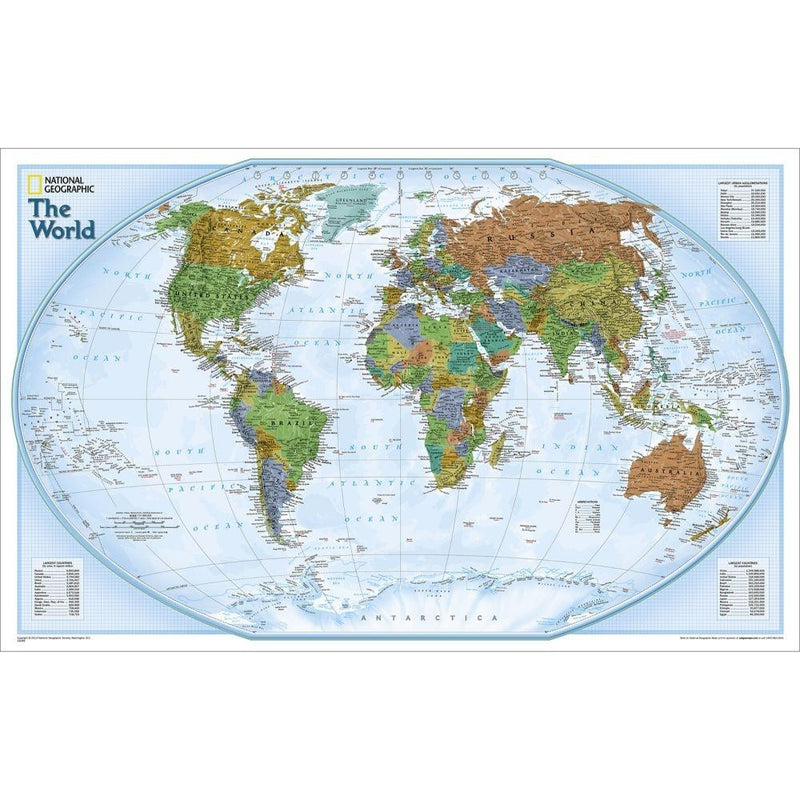 National Geographic World Decorator Wall Map