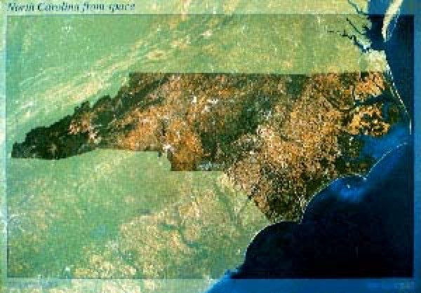 North Carolina Satellite Map