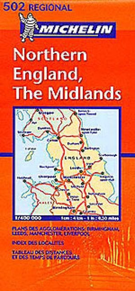 Northern England, The Midlands Travel Map