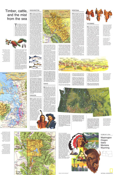 Northwest Map 1973: Timber, Cattle, and the Mist from the Sea