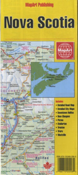 Nova Scotia, Canada Travel Map