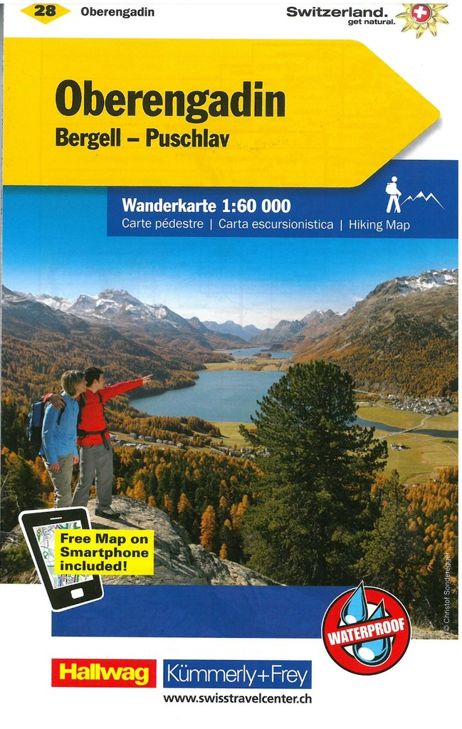 Cover of Oberengadin : Switzerland Hiking Map #28 by Kummerly + Frey