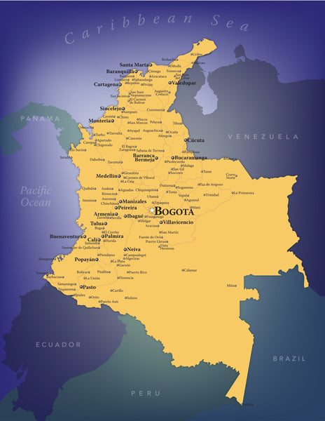 Colombia Wall Map