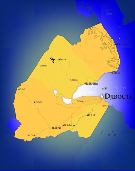 Djibouti Wall Map