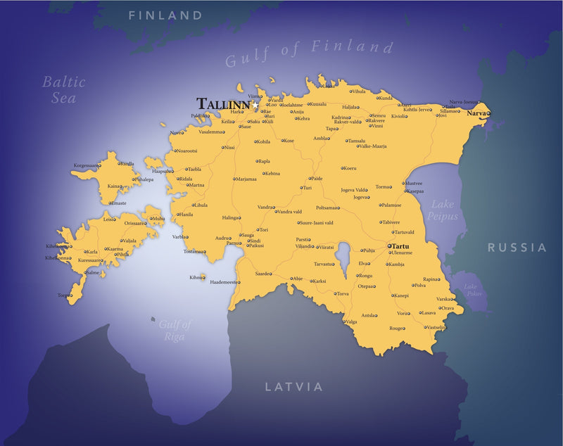Estonia Wall Map