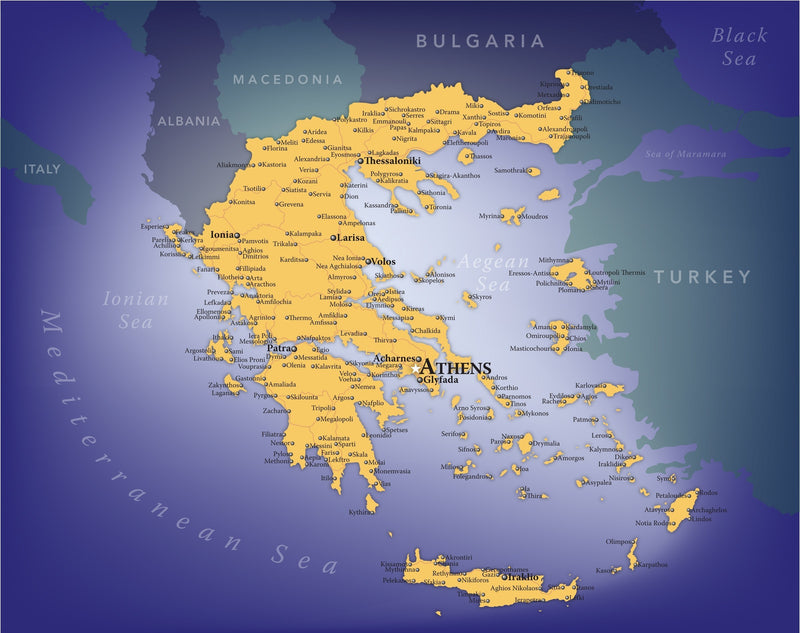 Greece Wall Map