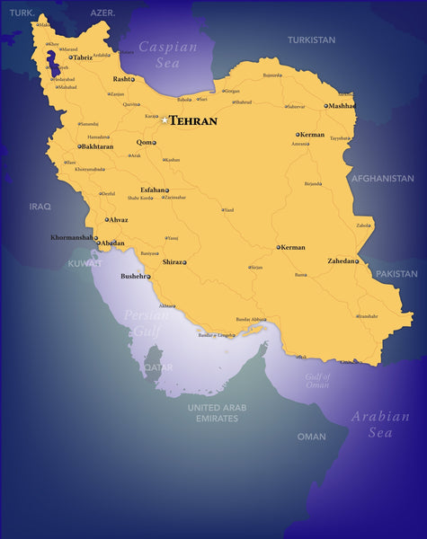 Iran Wall Map